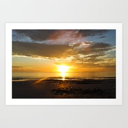sunset over Broome Art Print