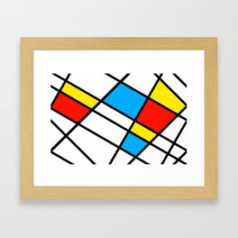 Related Colored Lines Framed Art Print