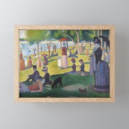 A Sunday on La Grande Jatte by Georges Seurat, 1884 Framed Mini Art Print