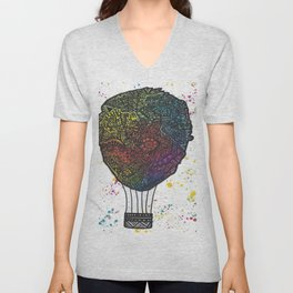 Colourful Hot Air Ballon Unisex V-Neck
