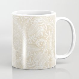 Medallion Pattern in Pale Tan Coffee Mug