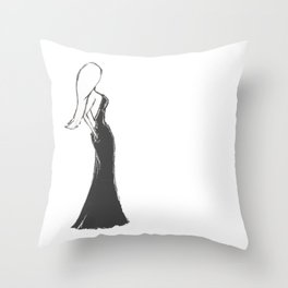 Evening gown with pockets Throw Pillow