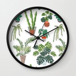 flowerpots pattern Wall Clock