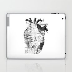 Heart Wanderlust Black and White Laptop & iPad Skin