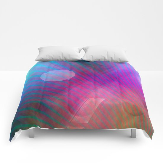 Multicolored abstract no. 43  Comforters