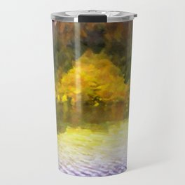 Colorful Lake Painting Travel Mug