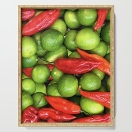 Lemons and chili pepper Serving Tray