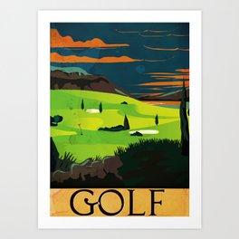 Golf Vintage Poster Art Print