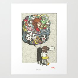 Thoughts unsaid then forgotten Art Print