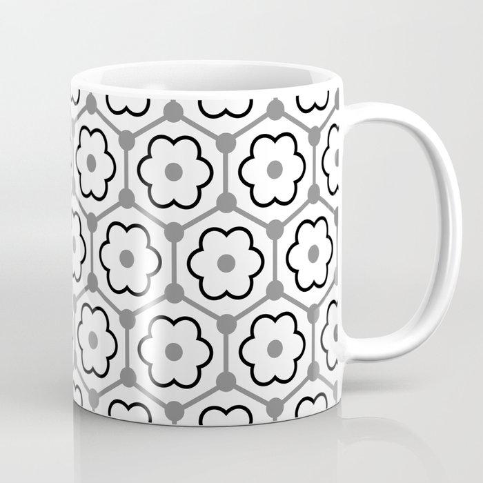 Floral Graphene - White - Gray - Black Coffee Mug
