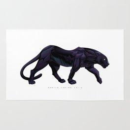Illustration of a black panther Rug