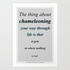 Chameleoning Art Print