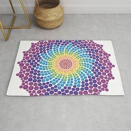 7 Chakra Color Dots Mandala Rug