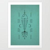 Line Fish Art Print