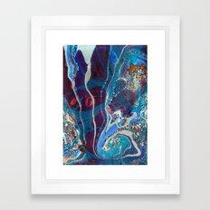 Midnight Marble Framed Art Print