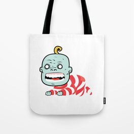 Zombaby decomposition face two Tote Bag