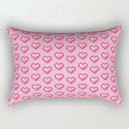 pink pixel hearts Rectangular Pillow