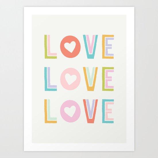 Love x3 Art Print