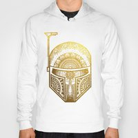 gold foil Hoodies featuring Mandala BobaFett - Gold Foil by Spectronium - Art by Pat McWain