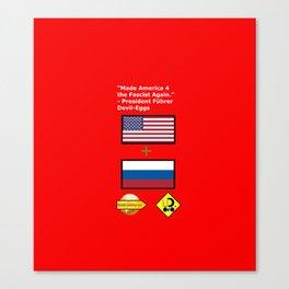 G. O. P. with President Führer Devil-Eggs Canvas Print