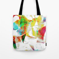 silver Tote Bags featuring Silver by Yilan