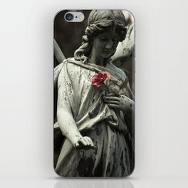 Angel with a rose iPhone Skin