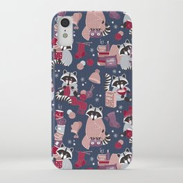 Hygge raccoon iPhone Case
