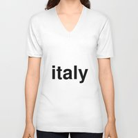 italy V-neck T-shirts featuring italy by linguistic94
