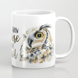 Grow Wise Little Owl Nursery Animals Art Great Horned Owl Coffee Mug