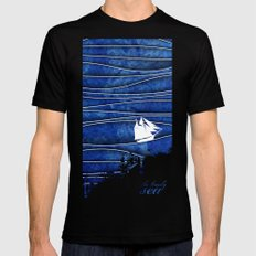 The Lonely Sea MEDIUM Mens Fitted Tee Black