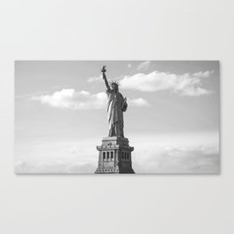 Black and White Statue of Liberty Canvas Print