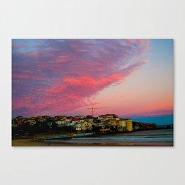 Bondi Beach Sunset night Canvas Print