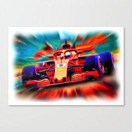 Sebastian Vettel #5 anno 2018 Canvas Print