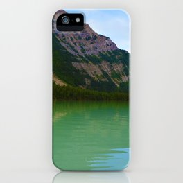 Kinney Lake in Mount Robson Provincial Park, British Columbia iPhone Case