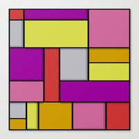 mondrian Canvas Prints featuring Mondrian #6 by Ron Trickett