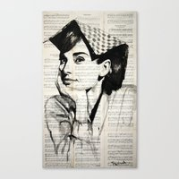 audrey Canvas Prints featuring Audrey by Krzyzanowski Art
