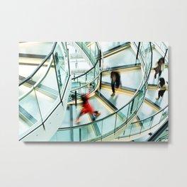 Staircase Rush Metal Print