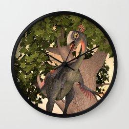 Dinosaur Gigantoraptor Wall Clock