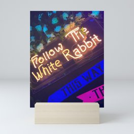 FOLLOW THE WHITE RABBIT. Mini Art Print