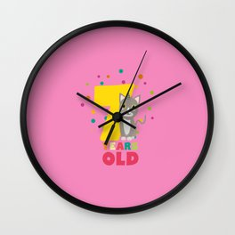 Seven Years seventh Birthday Party Cat Dkp39 Wall Clock