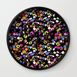 liquorice-all sorts Wall Clock