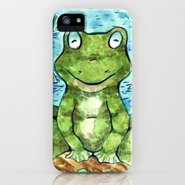Chillin' Frogs iPhone Case