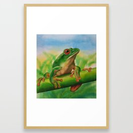 Green Treefrog Framed Art Print