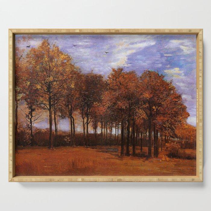 Vincent Van Gogh Autumn Landscape Serving Tray By