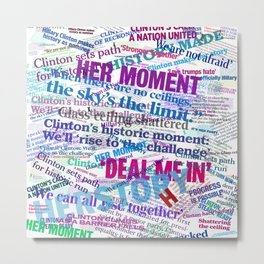 Hillary 2016 Abstract Headline Collage Metal Print