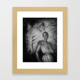 The Wolf and the Lamb by Kristina Carroll Framed Art Print