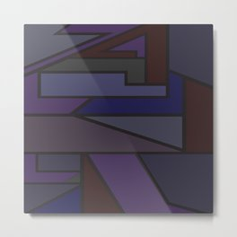 Abstract art purple and blues Metal Print