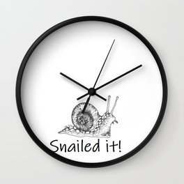 Snailed it! Wall Clock