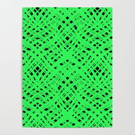 Green geometric Poster