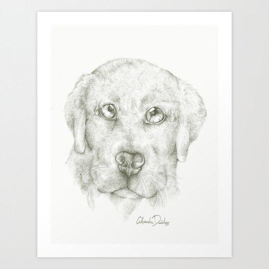 Puppy Cuddle  Art Print